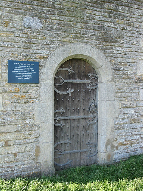 Door detail, St. Oswald's Church tower, Lassington