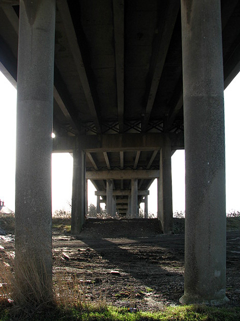 Underneath Haddiscoe Bridge