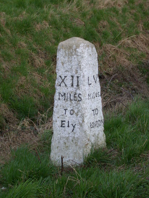 Milestone XII Miles to Ely.