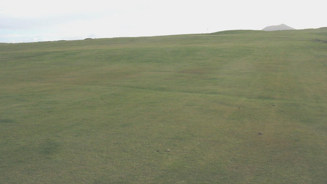 View south across the northern greens of Porthdinllaen Golf Course