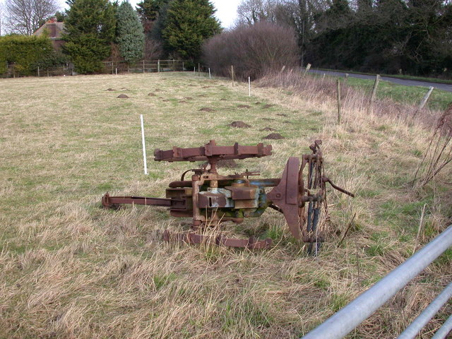 Rusty old farm machine