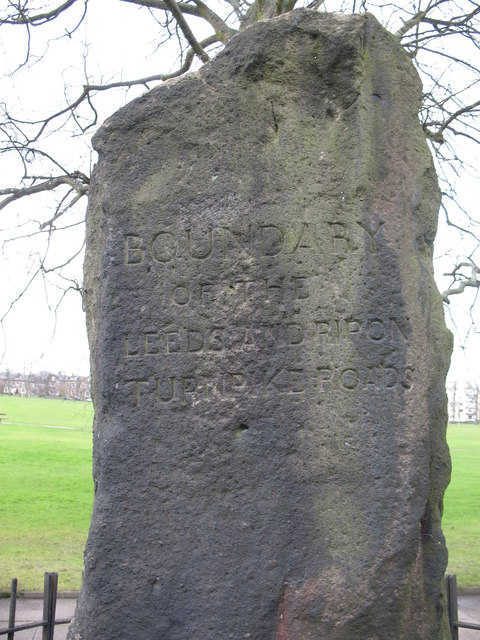Turnpike stone on West Park Stray