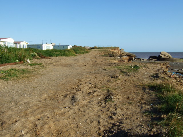Caravan site at Kilnsea