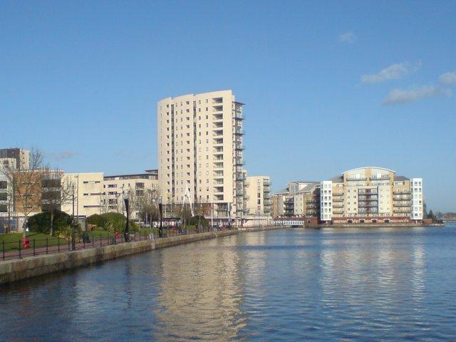 New housing development, Cardiff Bay