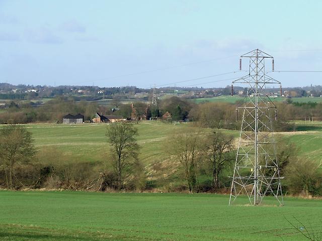 Staffordshire Farmland with Pylon, Lower Penn
