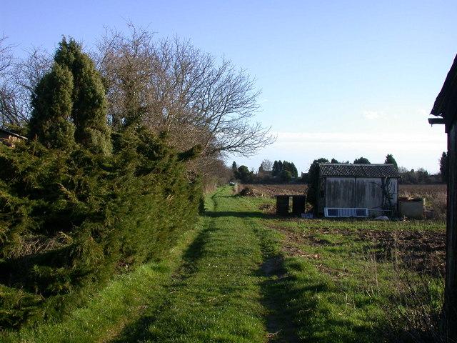 Private farm track off Oakington Road