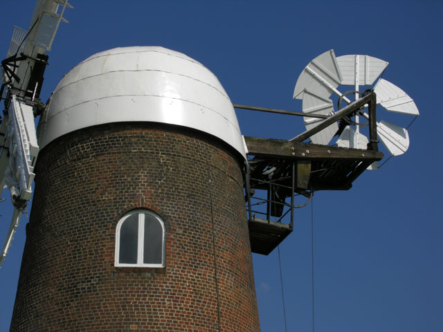 The top of Wilton Windmill