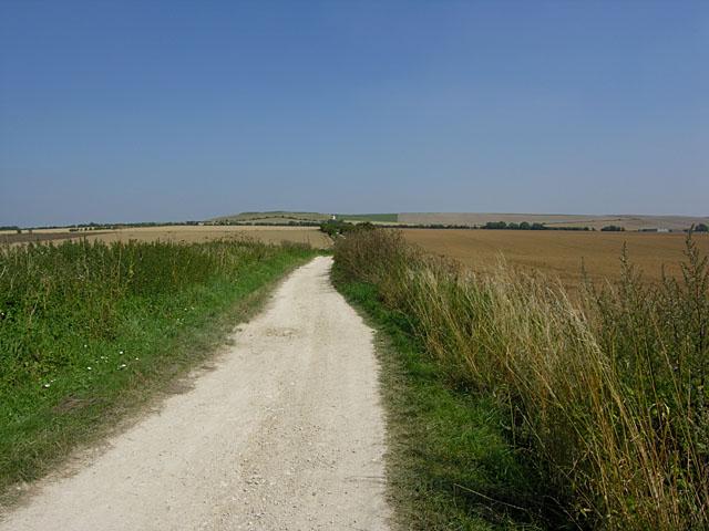 The Ridgeway east of Wayland's Smithy