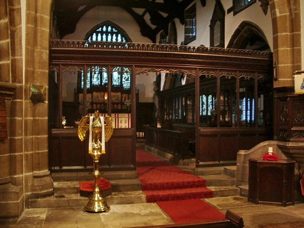 St Bartholomew's Parish Church, Colne, Screen