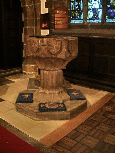 St Bartholomew's Parish Church, Colne, Font