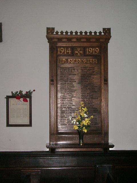 St Bartholomew's Parish Church, Colne, War Memorial
