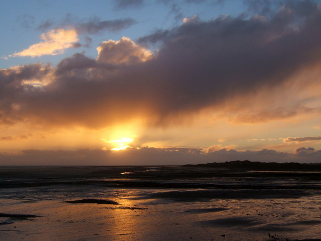 Duddon sunset view from the sea wall near Haverigg