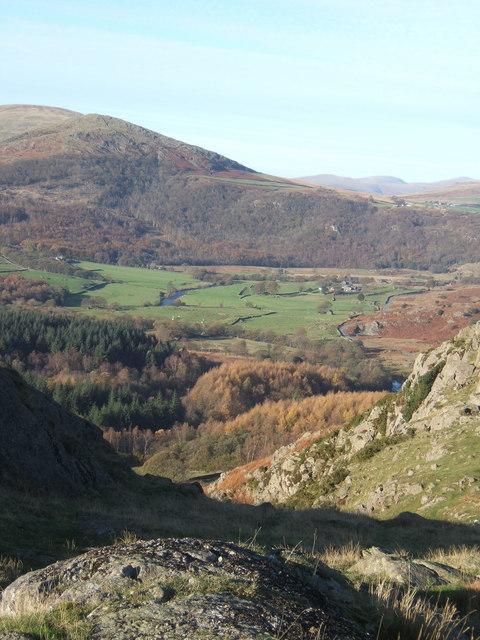 Small top near Raven Crag, with view of Duddon Valley