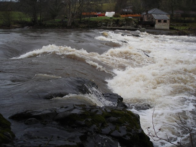 Armathwaite Weir after January's heavy rains