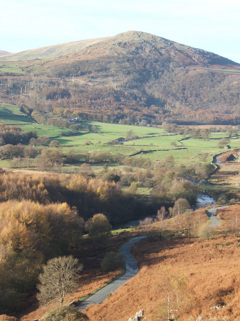 Duddon Valley and lane from path above Stonestar