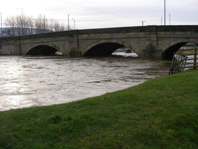 Kildwick Bridge January 2008.