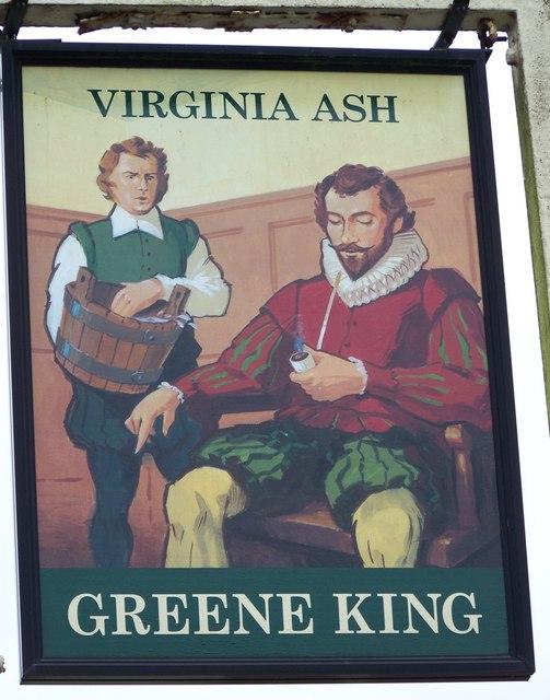 Sign for the Virginia Ash, Henstridge Ash