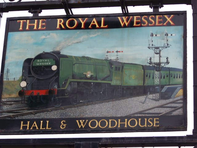 Sign for the Royal Wessex, Templecombe