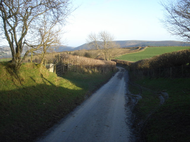 Gated road from Burl Hill