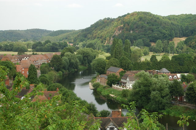 River Severn from Bridgnorth High Town