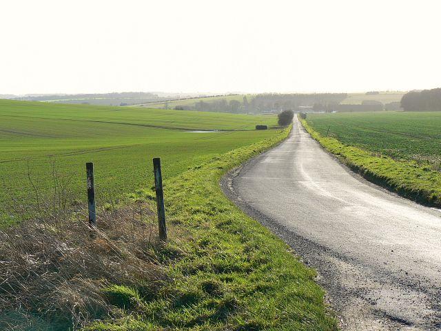The road south to Lambourn, near Kingston Lisle