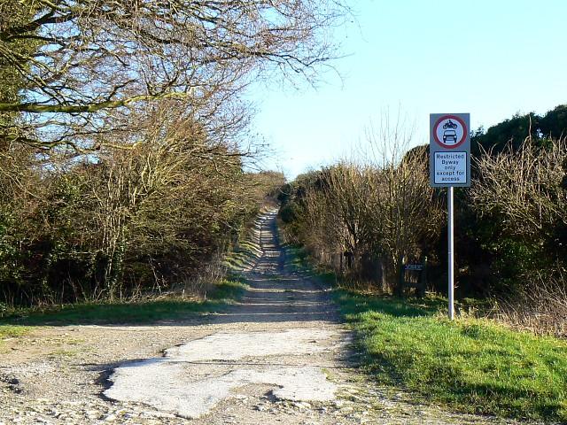 The Ridgeway looking east from Blowingstone Hill, Kingston Lisle