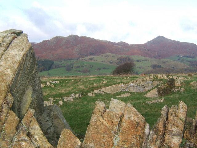 Rocky outcrop on ridge near Broughton Mills