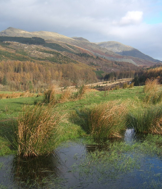 Small pool and view to Coniston Fells