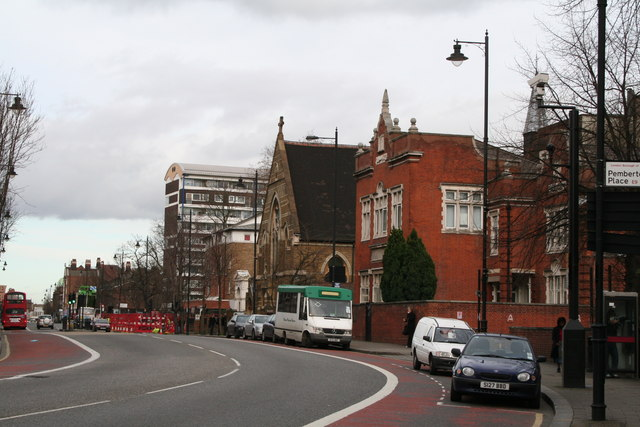 School and church, Mare Street, Hackney