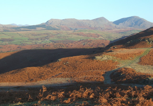 Low morning light, view from Long Rigg