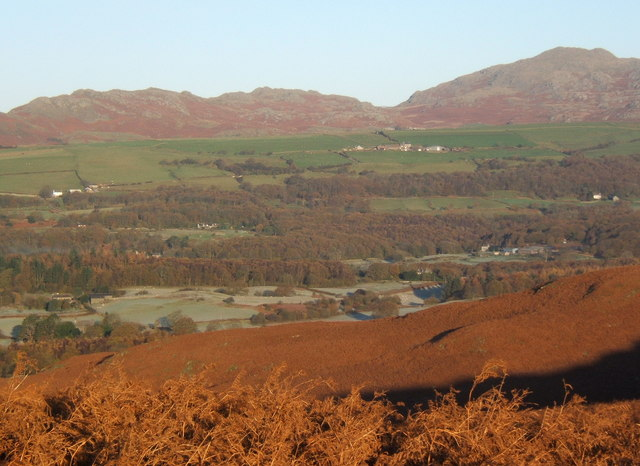 View from bracken clad slopes of Long Rigg