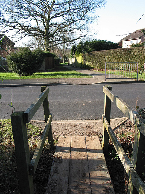 Route into the housing estate