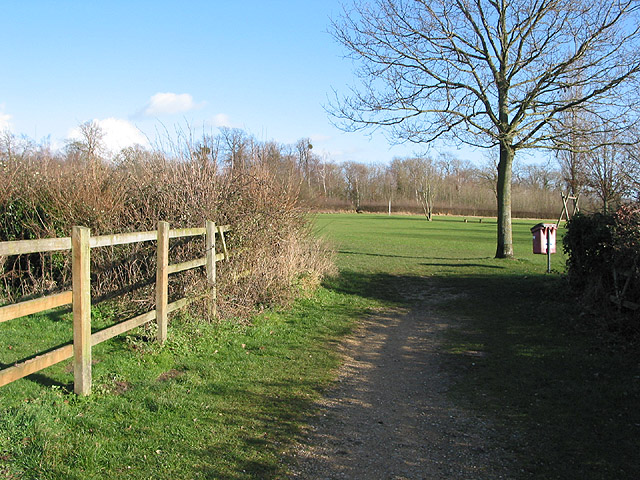 Footpath to Lassington Wood Nature Reserve