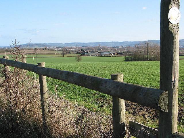 View across Over towards Gloucester