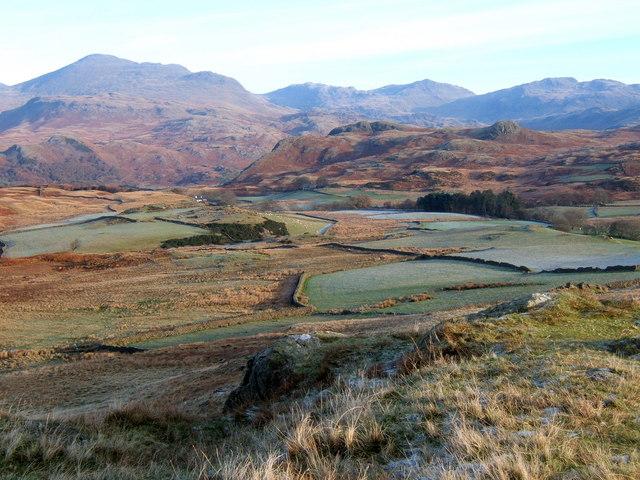 Fine viewpoint by Birker Fell road
