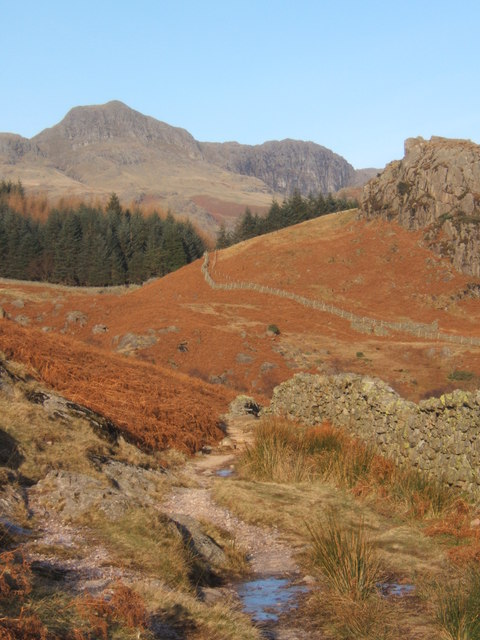 Track by wall at western edge of Blea Moss