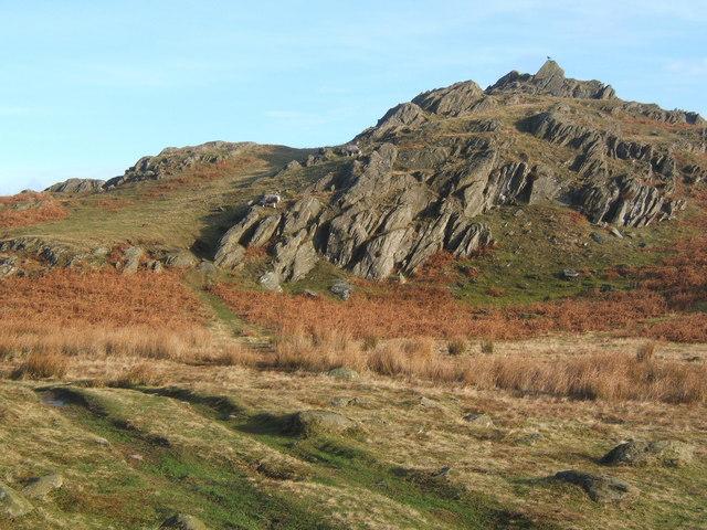 Rocky knoll close to lane summit