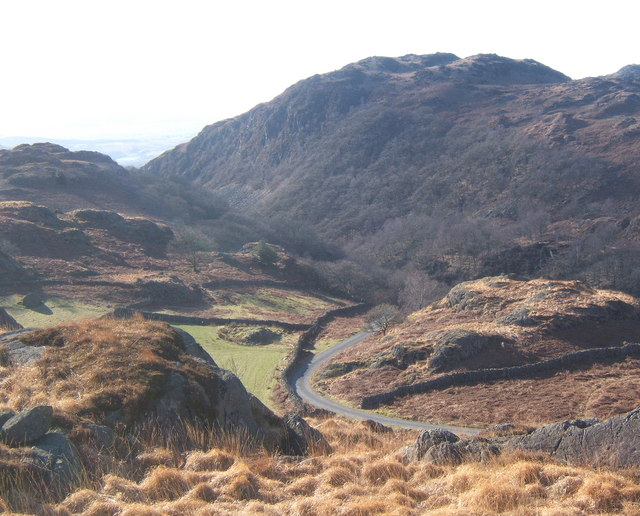 Looking from High Tongue to Wallowbarrow Gorge