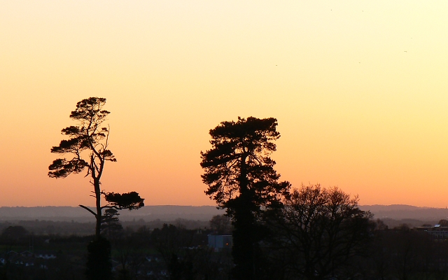 Nearly sunset over Faringdon