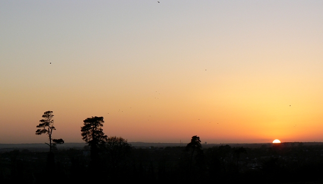 Sunset over Faringdon