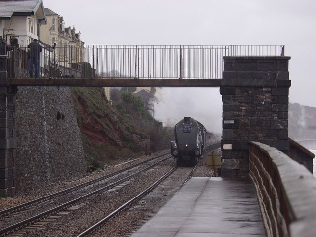Dawlish, access bridge to beach