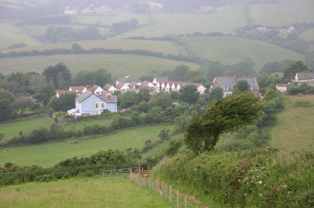 Eype, viewed from the hill to the south east