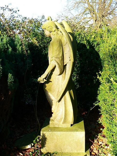 An angel in Kingston Lisle cemetery