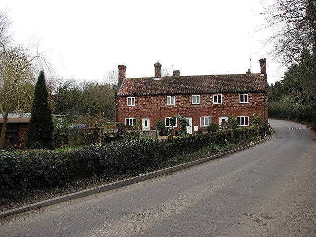 Ringland Road past Riverside Farm