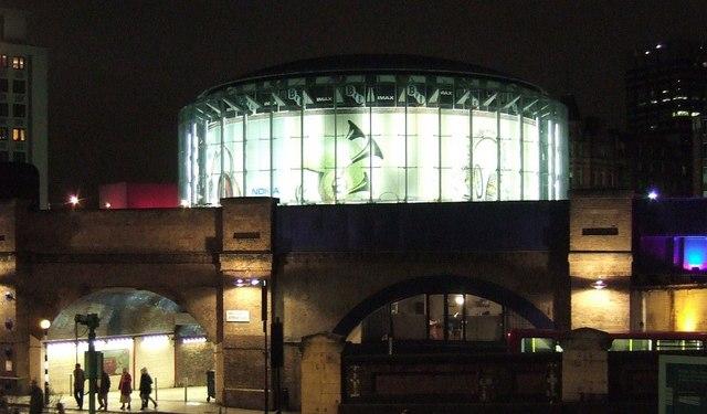 IMAX cinema from Waterloo Station