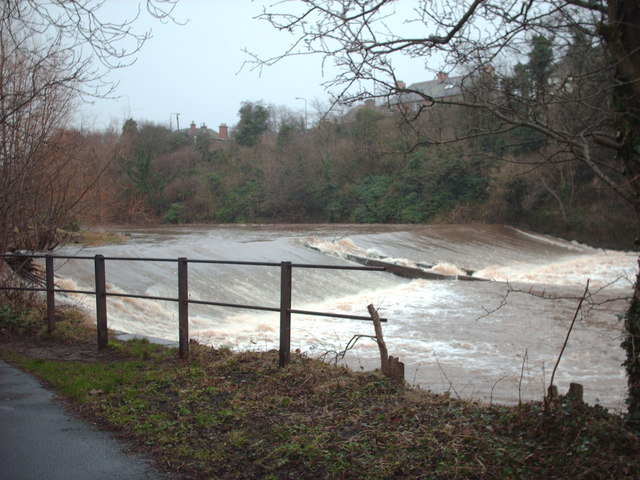 Weir on River Esk