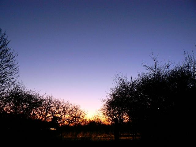 Sunset near Watchfield
