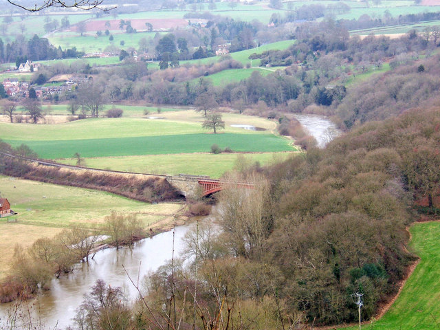 River Severn & Victoria Bridge seen from Seckley Viewpoint