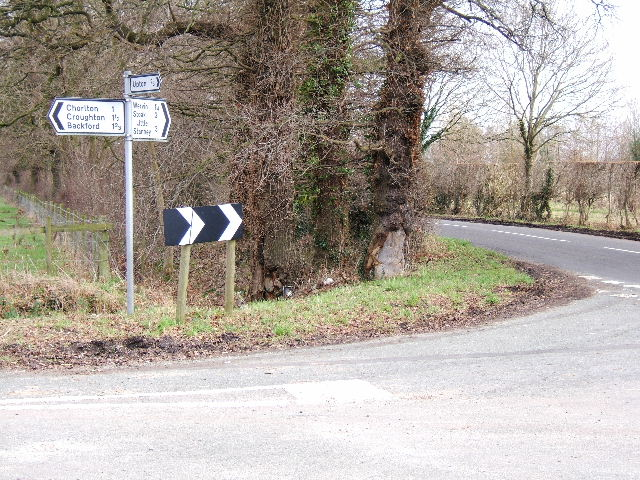 Road junction, near the old entrance to Chester Zoo