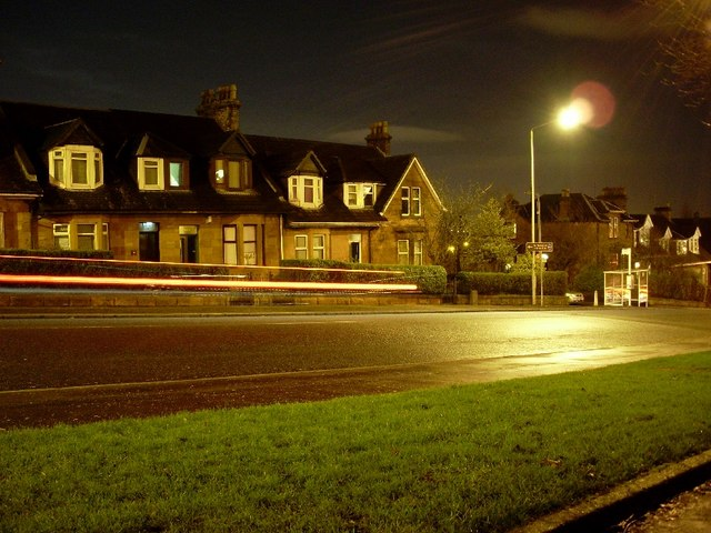 Kilbowie Road at night